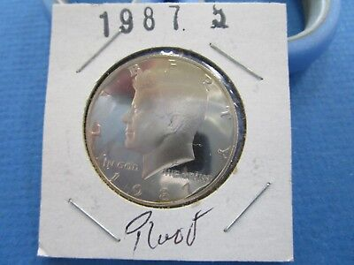 1987 S Kennedy Half Dollar Coin UNC Proof