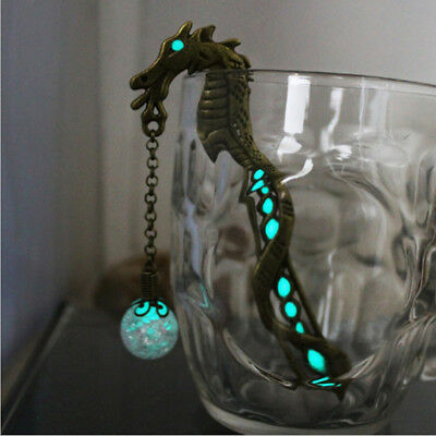 Glowing Dragon Bookmarks Luminous Bead Glow In The Dark Petals Hair Clasp GA