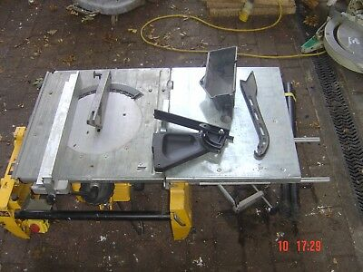 Dewalt 743 Flip over Mitre Chop saw bench 110V 250mm Blade, Side table legs etc