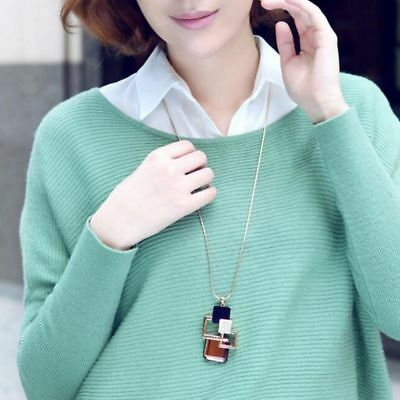 Hollow Geometric Necklace Necklaces Long Pendant Sweater Chain For Women Gift