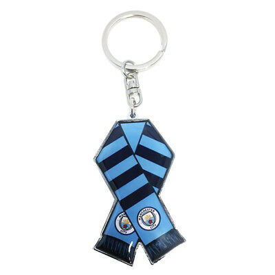 Manchester City Fc Metal Bar Scarf Keyring Key Rings Keychain New Gift Xmas