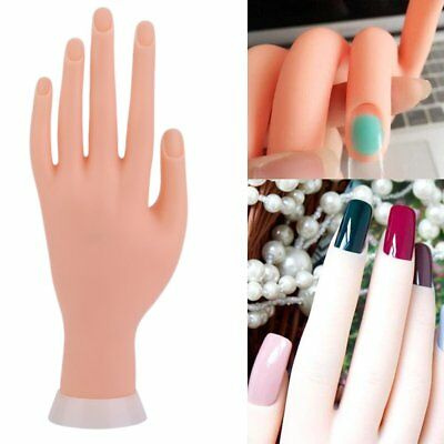 Adjustable Practice Nail Art Training Hand Learning Model Manicure Tool+5 Finger