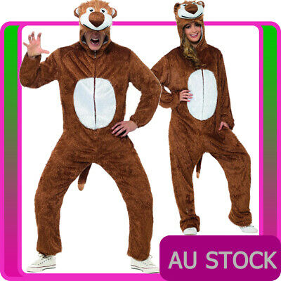 fd9911d03 Mens Lion King Costume Adult Jumpsuit Animal Zoo Party Simba Book Week  Outfits