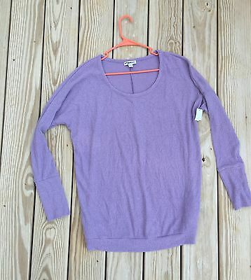 NWT Liz Lange Maternity Long Sleeve Ribbed Sweater Top Light Purple XXL