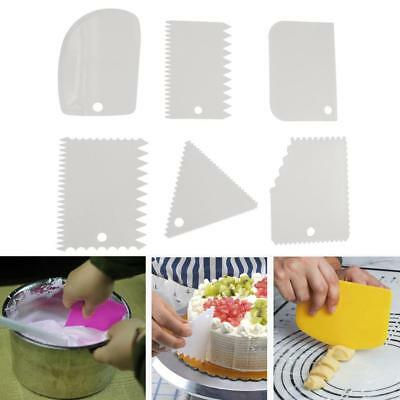 6 PCS Plastic Cake Spatulas Cake Cream Scraper Smoothing Cream Baking 2018