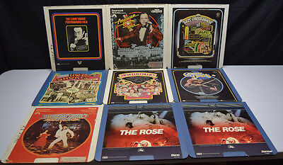 Vintage Lot of 8 Music/Comedy/Dance CED Videodisc Movies Selectavision The Rose
