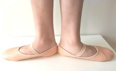 Split Sole Genuine Leather Children Girls Ballet Dance Shoes Pink  Free Shipping