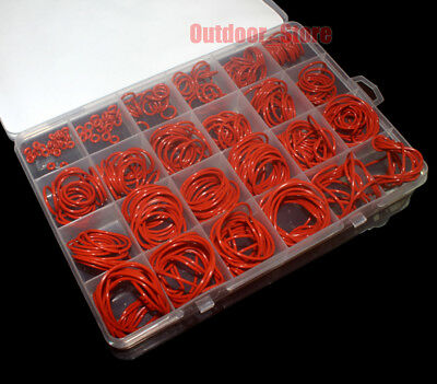 360pcs Red Food Grade Silicone O-Ring Assortment Kit  ( Line diameter:1.5mm)