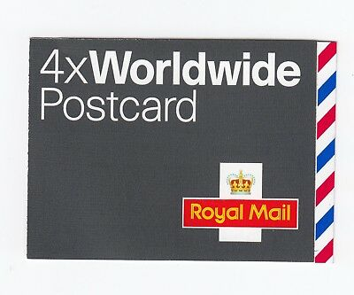 GB 2004 4 x WORLDWIDE POSTCARD STAMPS SELF ADHESIVE BOOKLET MJA1