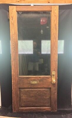 Antique Oak Entry Door