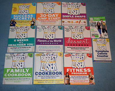 Lot of 11 The Biggest Loser Books Weight Loss Healthy Cookbooks Fitness Programs