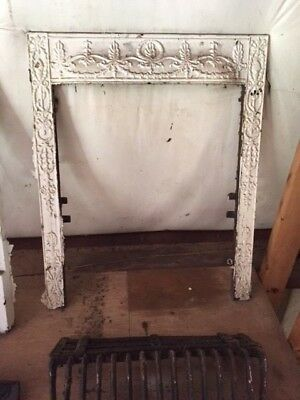 Beautiful Ornate Victorian Antique Cast Iron Fireplace Surround