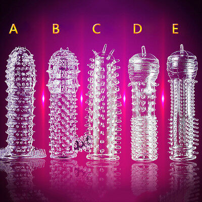 KE_ Special Silicone Spike Dotted Ribbed Condom Permanent Enhance Series #q Ni