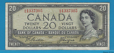 1954 $20 Devil's Face E/E1337305 BC-33b Beattie/Coyne Circ