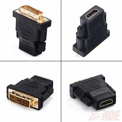 Dvi 24+5 Male To Hdmi Female Adapter Video Converter Hi Def TV Moniter Output