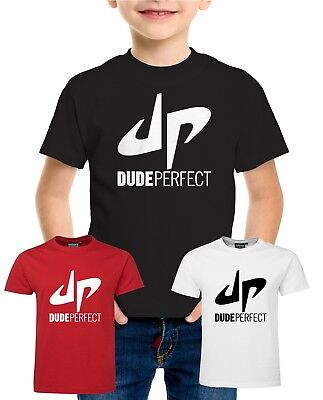 DUDE PERFECT DP Tshirt Tee Top Adults Kids Unisex Youtuber Youtube T-shirt