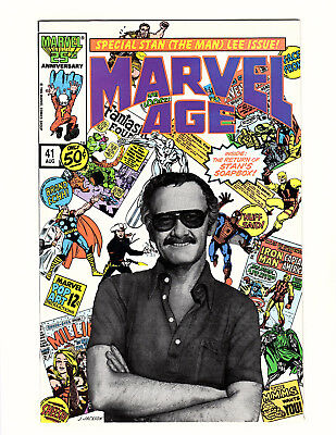 Marvel Age #41 (1986, Marvel) VF+ Stan (The Man) Lee Photo Cover