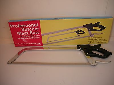 "21"" Butchers saw, meat, fish, bone, deer saw top quality stainless steel"