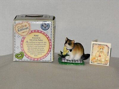 ENESCO CALICO KITTEN CAT OF THE MONTH by PRISCILLA HILLMAN ~ MAY NIB 784834