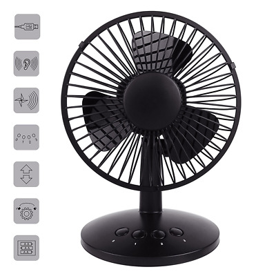 Oscilating Rechargeable Portable Fan Quiet Battery Operated Fan & USB with 70°
