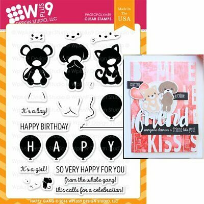 WPlus9 Design Stamps - HAPPY GANG CL-WP9HG - 2017 Release