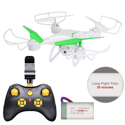 Drone with Camera, 20 Minutes Flight Time RC Quadcopter 6-Axis Gyro 2.4GHz NEW