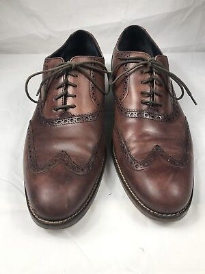 54a081c832 Mens Cole Haan Brown Leather Wingtip Brogue Oxfords Dress Shoes 10-1/2 M