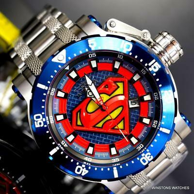 Invicta DC Comics Superman Coalition Forces Steel 52mm Automatic LE Watch New