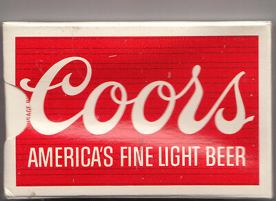 """Coors Americas Fine Light Beer Playing Cards  """"sealed Deck""""  Plastic Coated"""