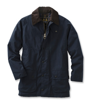 NWT Barbour Navy Waxed Cotton High Peak Jacket Men's Large Waterproof Breathable