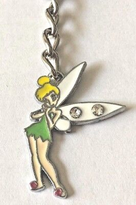 TINKERBELL Key Chain - Silver & Enamel - US Seller FREE SHIPPING