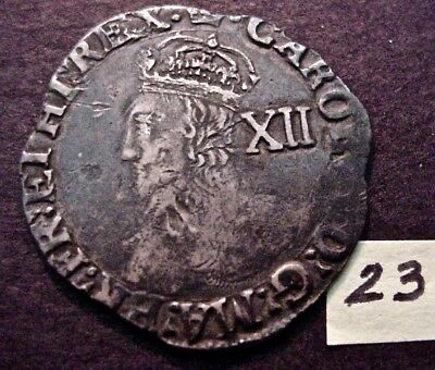 Charles I English Monarch Silver Groat