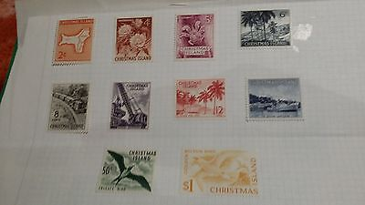 Christmas Islands --1963 Set Of 10 Stamps