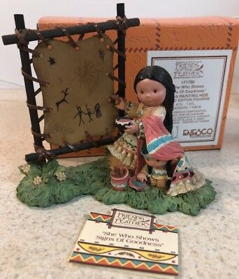 Limited 7,500 Enesco Friends of the Feather She Who Shows Signs Of Goodness -MIB