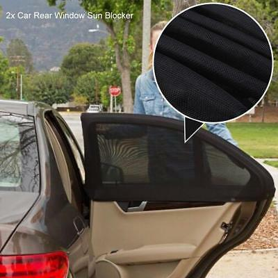 2x Universal Sun Shades Rear Side Seat Car Window Socks Baby Kids Protection