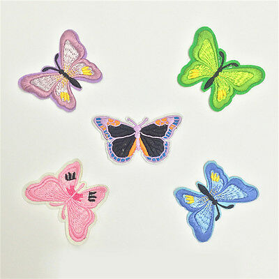 10pcs Embroidery Butterfly Sew Iron On Patch Badge Embroidered Applique DIY .