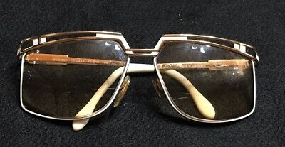 48855b94e82c Vintage CAZAL MOD 957 COL 332 GOLD   WHITE EYEGLASSES FRAMES MADE IN GERMANY