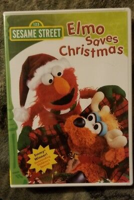 sesame street elmo saves christmas dvd 1997 rare brand new - Sesame Street Elmo Saves Christmas