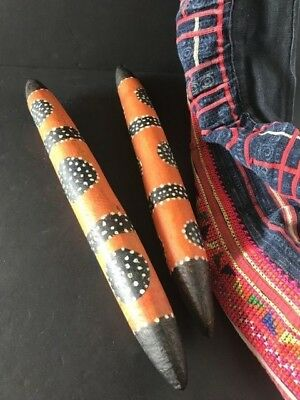 Old Australian Aboriginal Clap / Story Sticks …beautiful collection set