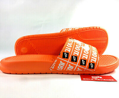 1cac5c0b7ea5 New NIKE BENASSI JDI SLIDE - MEN S JUST DO IT Print Orange Sandals 631261- 800