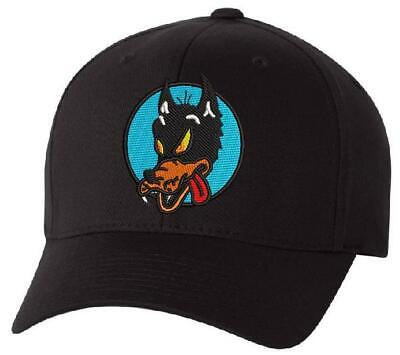 Grateful Dead Wolf Embroidered Flexfit Ball Cap Black, Navy or Olive - Var. Size
