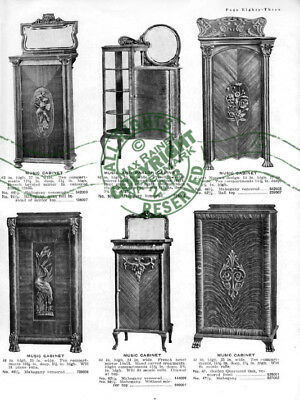 Forest City Furniture Co 1910 CATALOG Dining Cabinets Buffet Secretary Samples