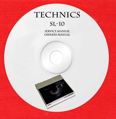 SERVICE OWNER MANUALS for Technics SL-10 turntable on 1 DVD in pdf format