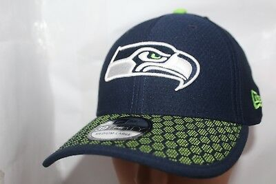 5a509f5c922 SEATTLE SEAHAWKS CAP New Era 39Thirty Stretch Fit 2017 NFL Draft Day ...