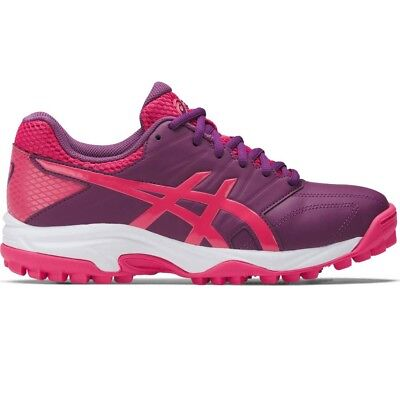 Asics Gel Lethal MP 7 Womens Hockey Shoes, Prune/RougeRed/White