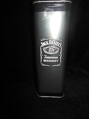 Jack Daniels Old No7 Whiskey 2014 Collector Metal Tin Hinged Lid Black Silver