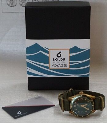 NEW BOLDR Voyager - Atlantic Green NH35A automatic watch w/ Warranty