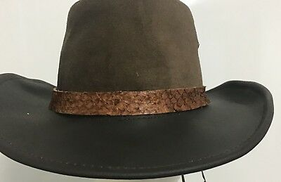 Barramundi leather  hat band for all hats exotic