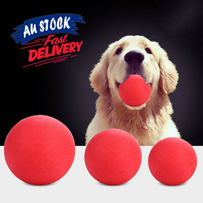 Solid Training Toy Rubber Ball Pet Puppy Dog Chew Play Fetch Bite