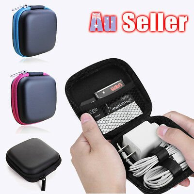 Portable Carrying Headphone Earbud SD Card Pouch Earphone Storage Case Bag